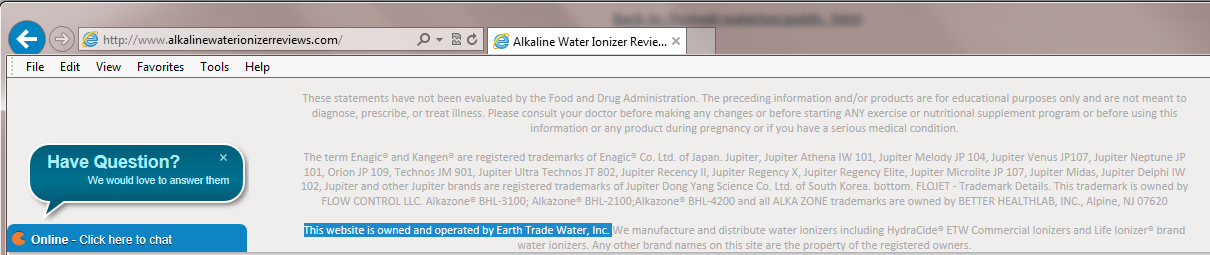 Fake alkaline water ionizer reviews