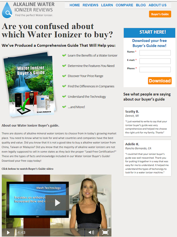fake water ionizer buyers guide and consumer reports