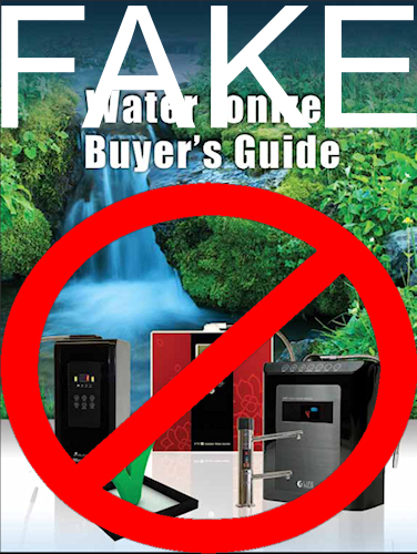 Fake water ionizer buyers guide